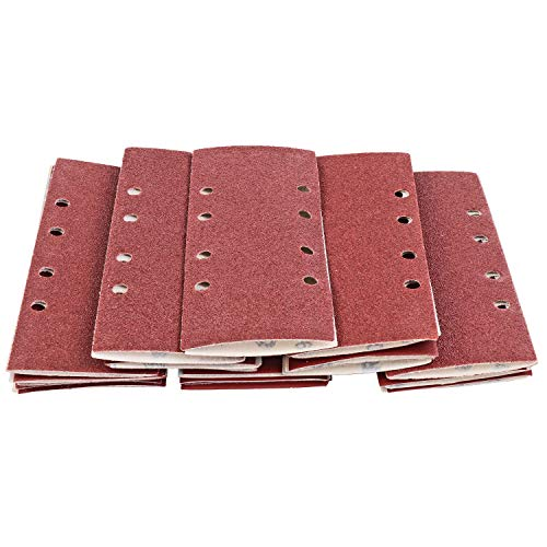 S&R Carta Vetrata Abrasiva per Muro Legno Ferro (93x230 mm) per Levigatrice Rettangolare 35 pz: 5xP40, 5xP60, 5xP80, 10xP120, 10xP240