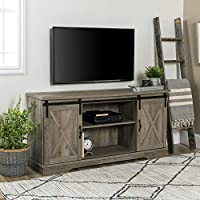 Walker Edison Richmond Modern Farmhouse Sliding Barn Door TV Stand for TVs up to 65 Inches