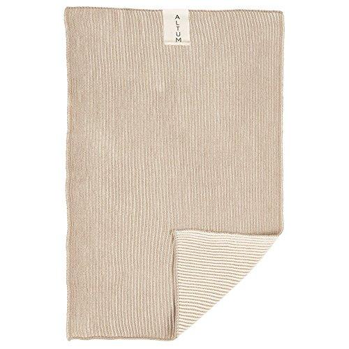 Ib Laursen Altum Handtuch gestrickt beige