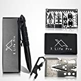 XLifePro Tactical Pen with Gift Box, Survival Cards and Multi-Tool EDC Keychain,...