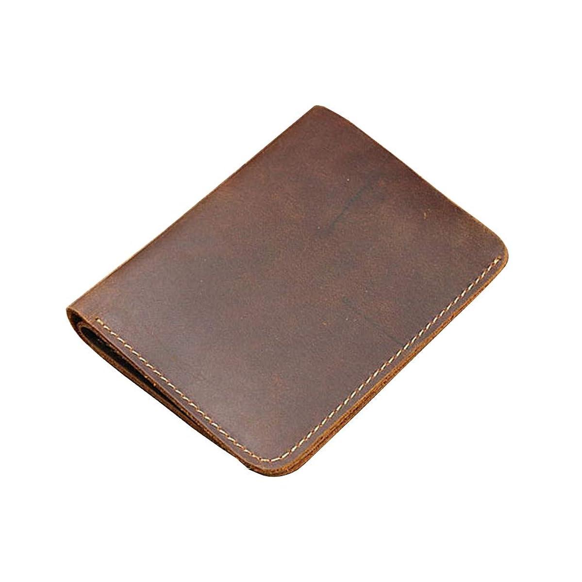 Mens Handmade Genuine Leather Premium Vintage Wallet Bifold Wallet Vintage Front Pocket Wallets ,vertical