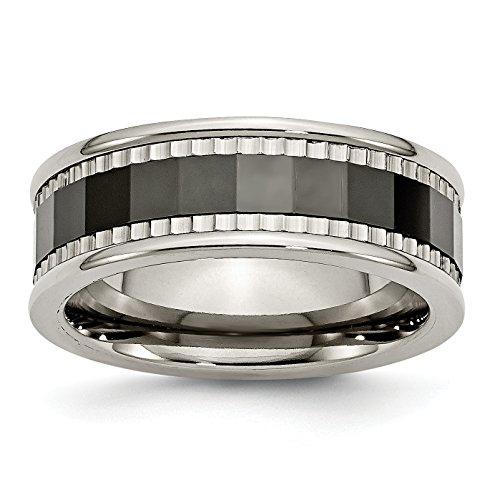 Diamond2Deal - Alianza de titanio para mujer, centro de cer�