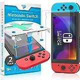 Power Theory Verre Trempé compatible avec Nintendo Switch - Protection Ecran [2 Pièces] Anti-Rayure, Film sans Bulles d'air, Vitre Ultra Résistant Dureté 9H avec Kit d'Installation d'Appli Facile