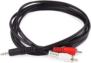 Monoprice 100665 6-Feet 3.5mm Stereo Plug/2 RCA Plug Cable, Black