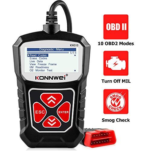 KONNWEI KW310 OBD2 Scanner Car Code Reader Full OBDII Functions 10 Modes Engine Diagnostic Scanner Tool for All 1996 and Newer Cars(Black)