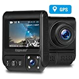 TOGUARD Uber Dual Dash Cam Built-in GPS in Car Driving Recorder 1080P Front and...