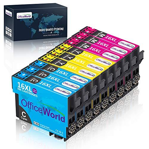 OfficeWorld Cartucce Compatibili Sostituzione per T1632 T1633 T1634 Cartucce d'inchiostro Alta Capacità Compatibile per Workforce WF-2010W WF-2510WF WF-2520NF WF-2530WF WF-2540WF WF-2630WF WF-2650DWF WF-2660DWF WF-2750DWF (3 Cyan, 3 Magenta, 3 Giallo)