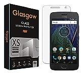 Glasgow Premium Tempered Glass Screen Protector for Motorola Moto G5 Plus [flexible] [Gorilla] Bubble Free Installation [Screatch proof] [Guard]