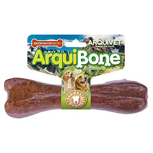 ARQUIVET - Arquibone Bacon 20 cm - 95 g- Hueso grande para perros - Snack natural para perros - Hueso para masticar - Alimento complementario para perros ⭐