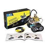 KEYESTUDIO Kit Robot Mini Tank con Evitare di ostacolo a ultrasuoni, Scheda R3, Modulo Bluetooth Lultimo Gioco Intelligente ed Educativo per Bambini for Arduino Uno