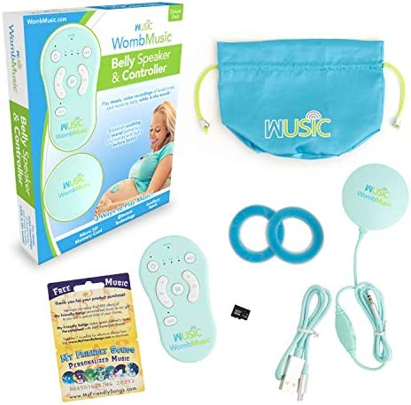 Womb Music Deluxe Bluetooth Baby Bump Headphones for Prenatal Belly Play Music Sounds Voices product image
