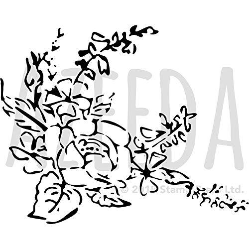 Azeeda A3 'Schöne Blumen' Wandschablone / Vorlage (WS00031882)