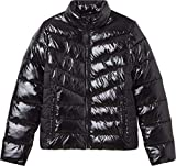 Calvin Klein Jeans Glossy LW Padded Puffer Jacket Chaqueta, CK Black, XS para Mujer