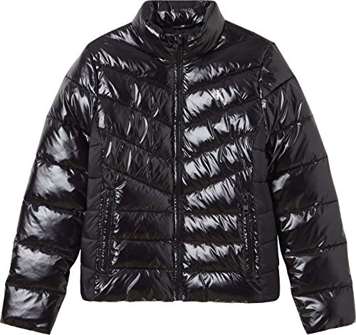 Calvin Klein Jeans Glossy LW Padded Puffer Jacket Giacca, CK Black, XS Donna