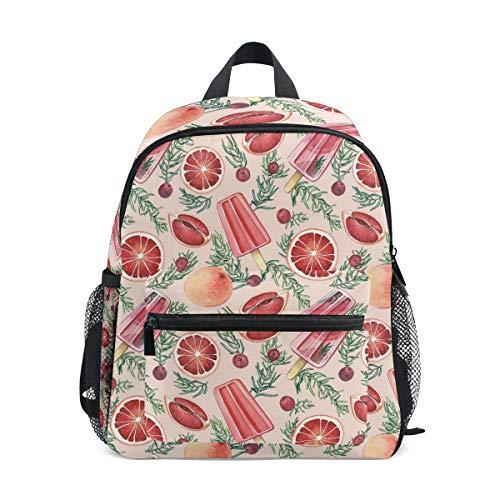 Kinderrucksack Sommer EIS und Cranberry Kindergarten Vorschule Tasche für Kleinkind Mädchen Jungen