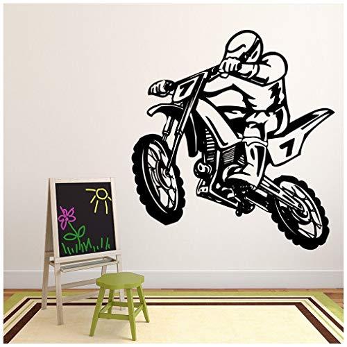 azutura Dirt Bike Stunt Wandtattoo Moto-Cross Wand Sticker Jungen Schlafzimmer Haus Dekor verfügbar in 5 Größen und 25 Farben X-Groß Rose Rosa