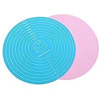 マットマットマットマット生地のベーキング用品を飾る1PCS 12インチ径のシリカケーキ (Color : Pink)