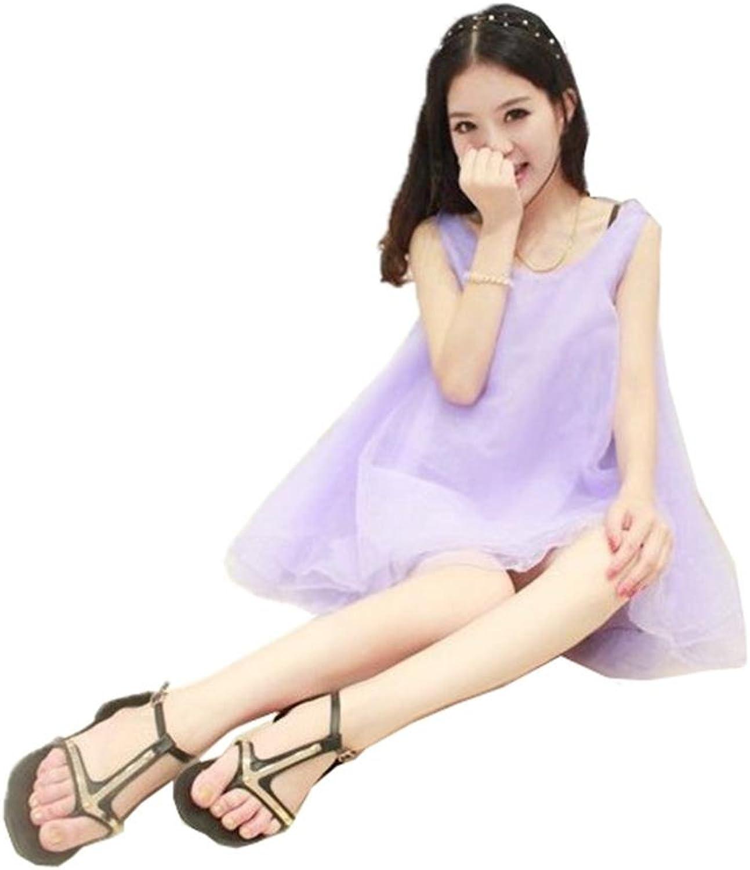 Angel&Lily Handmade Organza Casual Sleeveless Dress Plus 1x10x