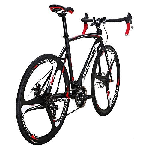 Eurobike Road Bikes XC550 54cm Steel Frame 21 Speed 700C 3 Spoke Wheel Disc Brake Road Bicycle