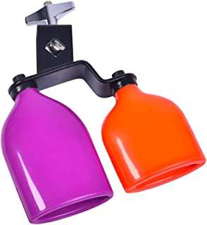 Drum Percussion Cowbell Double Mounted Bell Two-colors