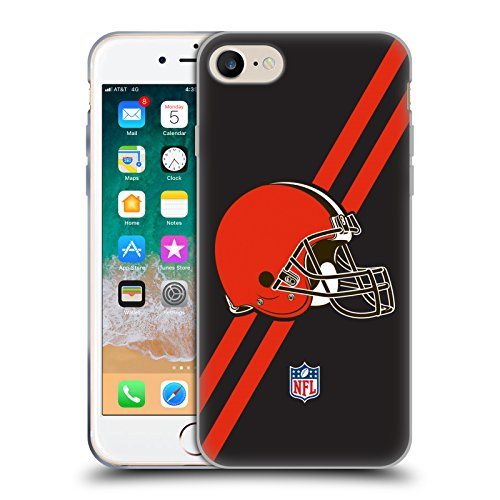 Head Case Designs Ufficiale NFL Strisce Cleveland Browns Logo Cover in Morbido Gel Compatibile con Apple iPhone 7 / iPhone 8 / iPhone SE 2020