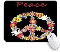 ZOMOY マウスパッド 個性的 おしゃれ 柔軟 かわいい ゴム製裏面 ゲーミングマウスパッド PC ノートパソコン オフィス用 デスクマット 滑り止め 耐久性が良い おもしろいパターン (愛平和鳥花虹を祝う)