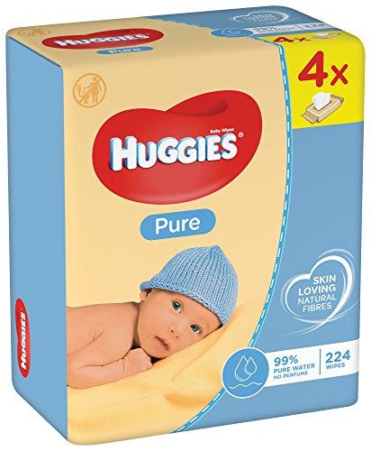Huggies Pure - Salviette umidificate per tutto il corpo, 99% di acqua pura e inodore, 12 x 56 salviette