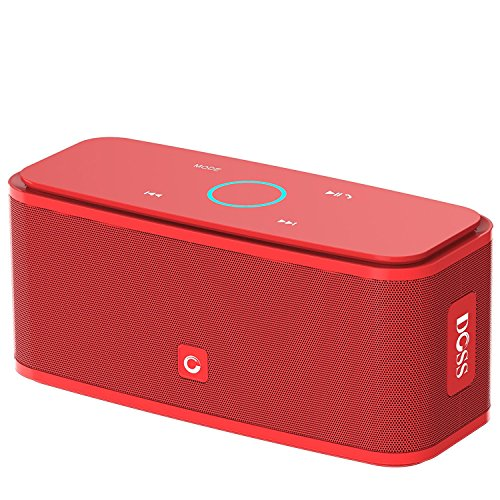 DOSS SoundBox Bluetooth Speaker, Portable Wireless Bluetooth 4.0 Touch Speakers with 12W HD Sound and Bold Bass, Handsfree, 12H Playtime for Phone, Tablet, TV, Gift Ideas[Red]