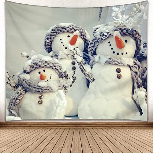 Brandless Tapiz de Navidad Feliz árbol de Navidad Vela Muñeco de Nieve Copo de Nieve Tapiz de Reno Tapices de Trineo de Papá Noel Colgante de Pared