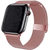 VIKATech Sports Correa Compatible con Apple Watch Correa 40mm 38mm, La Pulsera Loop es una Malla de Acero Inoxidable Correa para iWatch Series 6/SE/5/4/3/2/1 Or Rose