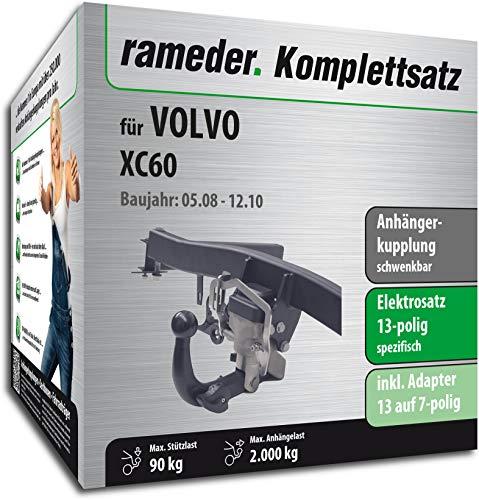 Rameder Komplettsatz, Anhängerkupplung schwenkbar + 13pol Elektrik für Volvo XC60 (117657-07583-2)