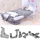 Kit de accesorios para máquinas de coser, accesorios para máquinas recubiertas Placa de agujas Prensatelas de dientes Juego de abrazaderas de agujas para la serie de máquinas de coser Overlock de cuat