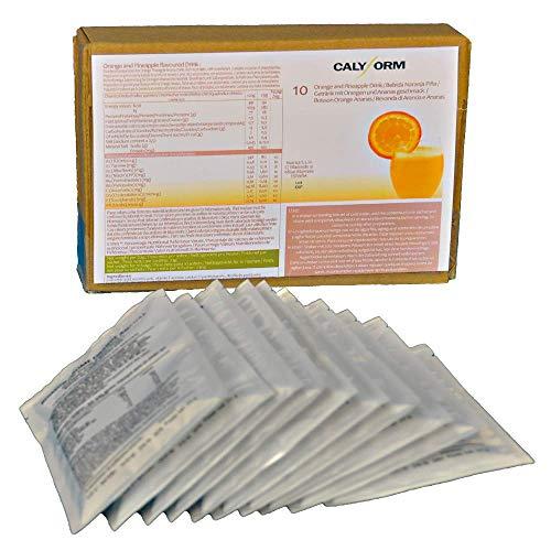 CALYFORM Batidos Proteínas para dieta sabor Naranja y Piña | Bebida proteica en polvo saciante | Proteína dietética de calidad y aporte en aminoácidos esenciales (10 Sobres)