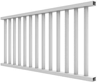 YardSmart 73012418 Select Rail Square Bal Vinyl Railing, 6` x 36`, White