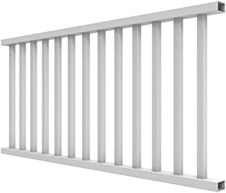 YardSmart 73012418 Select Rail Square Bal Vinyl Railing, 6' x 36', White