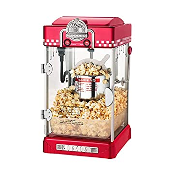 Great Northern Popcorn 2-1/2 Oz Red Tabletop and Retro Style Compact Popcorn Maker with Removable Tray