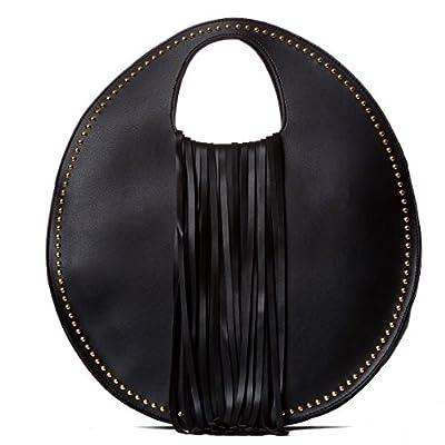 Handbag Republic Women Handbag PU Leather Italy Fashion Top Handle Specialty Unique Bag Fringe Design