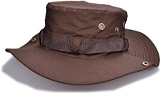 Vadeytfl Unisex Bucket Hat Fisherman's Hat Wide Brim Sun Hat Hiking Hat Anti-UV Hiking Hat Visors Cap -Adjustable Chin Strap and Breathable Ventilation Holes (Color : Brown)