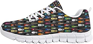 TecBillion Grunge Comfortable Sports Shoes,Retro Revival Pattern with Circles and Colorful Dots Abstract Style Antique Design for Men & Boys,US Size 6.5