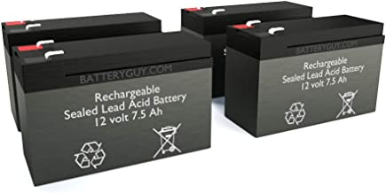 BatteryGuy BGH-1275F2 (Qty of 4) 12V 7.5ah High Rate Rechargeable SLA Battery
