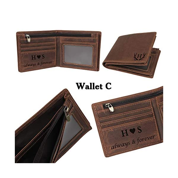 Personalized Engraved Wallet, Custom Photo Leather Wallet for Men, Perfect Gifts for Husband,Dad,Son,BF,Groomsmen