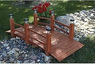 Alek...Shop Decorate Garden Landscape Backyard Structure Outdoor Stream Pond Yard Arch Wooden Bridge 5 Feet. Walkway W/Solar Lights