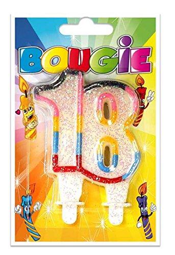 BOUGIE ANNIVERSAIRE AGE-TOP VENTE-TOCADIS- 18 ANS