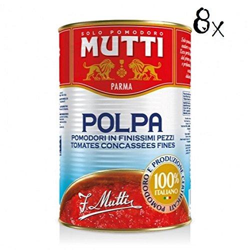 8 X Mutti Polpa di Pomodoro pomodoro pomodoro pomodoro salsa 100% italiano 400 G dose
