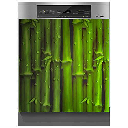 SHIRT-TO-GO Aufkleber für Spülmaschinen Geschirrspüler - Motiv Bambus