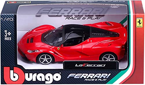 official product Ferrari Modelo LA Ferrari 1:43 Burago Race And Play Colección: