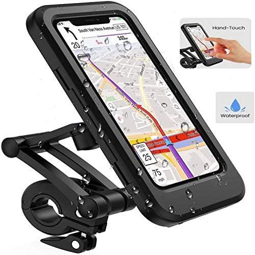 AMOYE Bike Phone Mount Waterproof Bike Cell Phone Holder for Motorcycle Bike Handlebars Bicycle product image