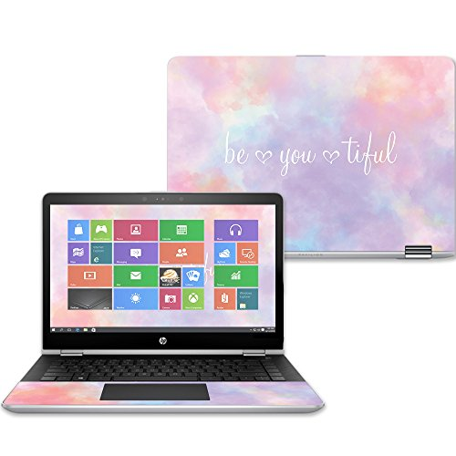 and Change Styles MightySkins Skin Compatible with HP Stream 14 2016 and Unique Vinyl Decal wrap Cover Made in The USA Durable Easy to Apply Protective - Rainbow Smoke Remove