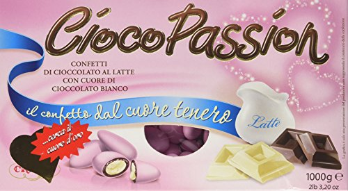 Cioco Passion - Confetti di cioccolato al latte, con Cuore di Cioccolato Bianco - 1 kg