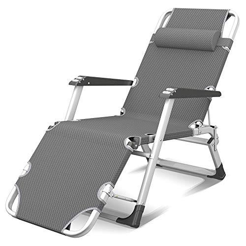 Jia He gartenliege klappbar Schwerelosigkeit Stuhl, Faltbare Büro Mittagspause Lehnstuhl Außenterrasse Schwerelosigkeits Beach Lounge Chair, Armauflage mit Massage-Roller ## (Color : B)